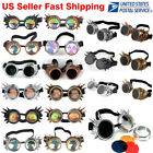 Rivets Vintage Style Steampunk Goggles Welding Cyber Gothic Cosplay Retro US