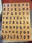 NEW Distressed Lettering Stampendous Letters Numbers Rubber Stamp