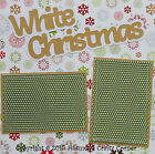 WHITE CHRISTMAS Premade Scrapbook Page SEWN 12x12 Layout