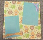 Premade Scrapbook page 12x12 zoo