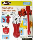 Chef'n Smoothie Blender Gadget Set with Strawberry Huller Fruit Peeler Fruit Sco