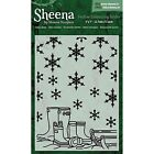 Crafters Companion Embossing Folders by Sheena Douglass Snowy Boots 5 by 7 I