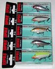 LOT OF 5 RAPALA ORIGINAL FLOATER F 3 F03 1 1 2 GREAT COLORS BALSA LURE 3