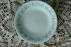 lot of 9 Corelle country cottage saucers with blue heart and green vine