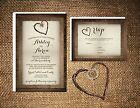 Wedding Invitations Wood Burlap  Twine Heart Rustic 50 Invitations  RSVP Card