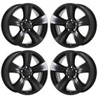 17 JEEP COMPASS PATRIOT BLACK WHEELS RIMS FACTORY OEM SET 4 2380 EXCHANGE