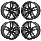 20 CHEVROLET CAMARO SS BLACK WHEELS RIMS FACTORY OEM 2017 SET 5762 66 EXCHANGE