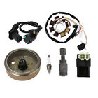 Moped Scooter ATV Ignition Coil CDI Spark Plug Flywheel Magneto Stator GY6 50cc