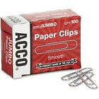 ACCO Paper Clips Economy Smooth Jumbo 200 Paper Clips 72580 2 Pack