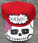 BLUEPRINT CUSTOM HAND PAINTED SKULL HEAD DAD HAT CAP BY YAMO RED