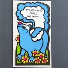 Vintage MELLO SMELLO Scratch and Smell Stickers SKUNK