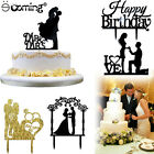 Wedding Cake Topper Insert Card Love Groom And Bride Acrylic Cake Decoration New