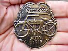 Vtg EXCELSIOR MOTOR Belt Buckle AUTO CYCLE Schwinn BIKE Scooter Brass RARE VG++