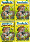 (4) 2016 Topps Garbage Pail Kids Prime Time Trashy TV Stickers EA Value Box LOT