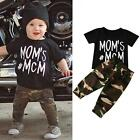 Infant Newborn Baby Boys Girl T shirt Tops+Camouflage Pants Outfits 2PCS Clothes