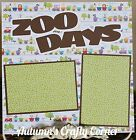 ZOO DAYS Basic Premade Scrapbook Page 12x12 Layout for Album ACC 970