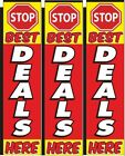 Stop Best Deals Here Big Rectangle Flag 3 ft x 12 ft 3 Pack