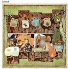 Bo Bunny Take a Hike Collection Scrapbook paper Lot 12 pcs double sided