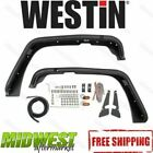 Westin Front 2pc Black Tube Fender Flares Fits 2007 2017 Jeep Wrangler