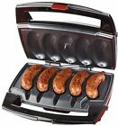 Sausage Grill Plates And Removable Cooking Plates Drip Tray Black/Stainless