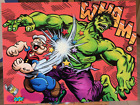 Popeye vs. The Hulk funny fan marvel painting pop art by PAPA