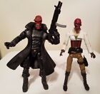 TOY BIZ MARVEL LEGENDS CUSTOM RED SKULL  DAUGHTER OF THE RED SKULL WITH WEAPONS