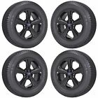 18 FORD EDGE BLACK WHEELS RIMS TIRES FACTORY OEM 2015 2016 2017 SET 4 10042