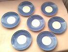 7 Vintage Churchill England Out Of The Blue Breakfast Saucers Plates Dishes