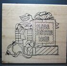 med 2 1 2 x 2 3 4 Rubber Stamp Good Santa Mail Gifts by Art Impressions