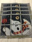 4 Halloween Night Ghost In a Window Tapestry Placemats Moon Bat Pumpkin Spider