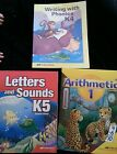 New Abeka k4 k5 1workbook seatwork lot Arithmetic phonics letters and sounds