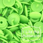 KAM Snaps B50 Lime Green Snaps Cloth Diapers Bibs Crafts Plastic Snap Buttons