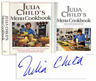 Julia Childs Menu Cook Book Signed Signature Bold