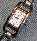 Fossil Square Women's Watch Pink Dial Stainless Steel NEW BATTERY!