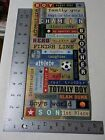 SANDYLION BOY WORDS SPORTS ATHLETE DISCOVER STICKERS SCRAPBOOKING NEW A2544