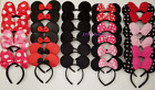 12 PC MICKEY MINNIE MOUSE EARS HEADBANDS BLACK RED PINK BOW PARTY FAVORS COSTUME