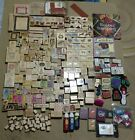 251 + Wood Stamps HUGE Rubber Stamp lot Misc Stamps Some Are Used Foam 49