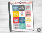 Inspirational Quotes Planner Stickers motivational inspire quote sayings words