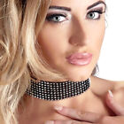 Bad Kitty Jewels Strass Halsband schwarz Choker Kropfband Hals Schmuck Kette