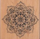 floral burst 1615P holly berry house Wood Mounted Rubber Stamp 5 x 5 free ship