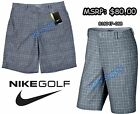 Nike Lightweight Relaxed Fit Plaid Golf Shorts Dove Grey 639801 088 Mens 40
