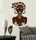 Vinyl Wall Decal African Native Beauty Girl Black Lady Aborigine Sticker 1306ig