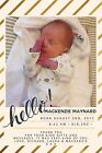 Personalised Photo Boy Birth Announcement Baby Thank You Cards + envelopes NB68