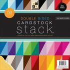 Double Sided Cardstock Stack Textured 58 Sheets 12 x 12 inches NEW