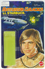 Battlestar Galactica 1978 Vintage Mattel Lt Starbuck Card Back with Bubble