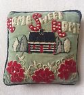 Judi Boisson Home Sweet Home Hand Hooked Pillow 2002 Lodge Look 17 x 17