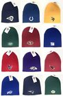 Licensed Team Color Cuffless Knit Hat Beanie Skull Cap Adult - New Various Teams