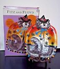 FITZ and FLOYD KITTY WITCHES Spiders Canape Candy Dish Halloween ORIGINAL BOX
