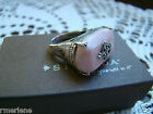 Silpada Sterling Silver Pink Soapstone Ring Sz 6 R2205 Retired!