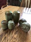 Frankoma Pottery Prairie Green Salt And Pepper Shakers